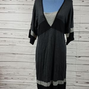 NWT Black & Gray Sweater Dress by Spense